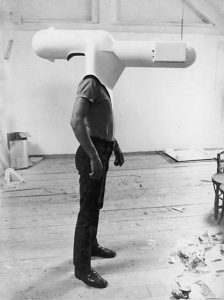Walter Pichler tv helmet beekman art foundation